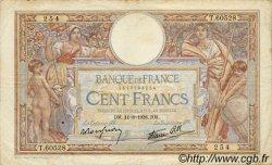 100 Francs LUC OLIVIER MERSON type modifié FRANCE  1938 F.25.28 TB+