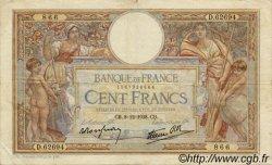 100 Francs LUC OLIVIER MERSON type modifié FRANCE  1938 F.25.36 TB