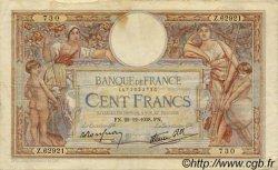 100 Francs LUC OLIVIER MERSON type modifié FRANCE  1938 F.25.37 TB+
