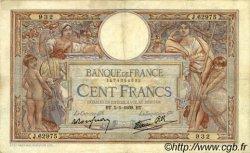 100 Francs LUC OLIVIER MERSON type modifié FRANCE  1939 F.25.38 TB+ à TTB