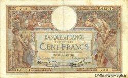100 Francs LUC OLIVIER MERSON type modifié FRANCE  1939 F.25.39 pr.TTB