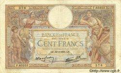 100 Francs LUC OLIVIER MERSON type modifié FRANCE  1939 F.25.44 TB