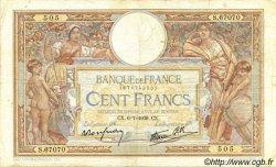 100 Francs LUC OLIVIER MERSON type modifié FRANCE  1939 F.25.48 TB