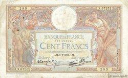 100 Francs LUC OLIVIER MERSON type modifié FRANCE  1939 F.25.48 B+