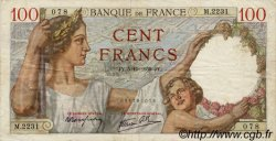 100 Francs SULLY FRANCE  1939 F.26.09 TTB