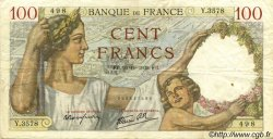 100 Francs SULLY FRANCE  1939 F.26.12 TB+