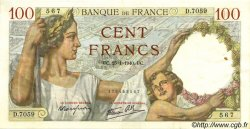 100 Francs SULLY  FRANCE  1940 F.26.21 SUP