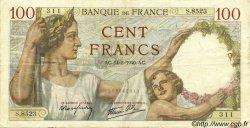 100 Francs SULLY FRANCE  1940 F.26.25 TB+