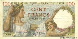 100 Francs SULLY FRANCE  1940 F.26.25 TTB+