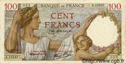 100 Francs SULLY FRANCE  1940 F.26.38 TTB+