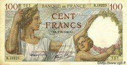 100 Francs SULLY FRANCE  1940 F.26.40 TTB+