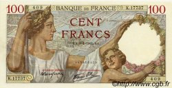 100 Francs SULLY FRANCE  1941 F.26.44 NEUF
