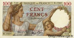 100 Francs SULLY FRANCE  1941 F.26.44 SUP