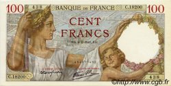 100 Francs SULLY FRANCE  1941 F.26.44 SPL