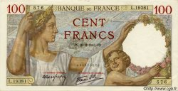 100 Francs SULLY FRANCE  1941 F.26.47 SPL