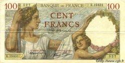 100 Francs SULLY FRANCE  1941 F.26.47 TTB+
