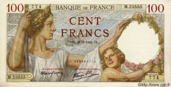 100 Francs SULLY FRANCE  1941 F.26.56 SUP