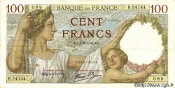100 Francs SULLY FRANCE  1941 F.26.57 TTB