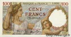 100 Francs SULLY FRANCE  1941 F.26.58 pr.NEUF