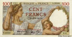 100 Francs SULLY FRANCE  1941 F.26.63 SUP