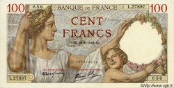 100 Francs SULLY FRANCE  1942 F.26.65 SUP+