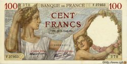 100 Francs SULLY FRANCE  1942 F.26.65 SPL