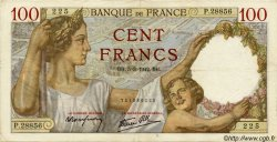 100 Francs SULLY FRANCE  1942 F.26.67 TTB+