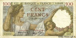 100 Francs SULLY FRANCE  1942 F.26.68 TB+