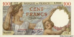 100 Francs SULLY  FRANCE  1942 F.26.69