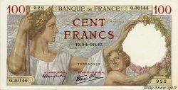 100 Francs SULLY FRANCE  1942 F.26.69 SPL+