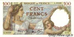 100 Francs SULLY FRANCE  1942 F.26.70 SPL+