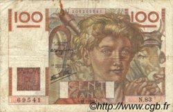 100 Francs JEUNE PAYSAN FRANCE  1945 F.28 B+