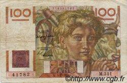 100 Francs JEUNE PAYSAN FRANCE  1945 F.28 TB
