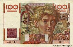 100 Francs JEUNE PAYSAN FRANCE  1945 F.28.01 TTB+ à SUP