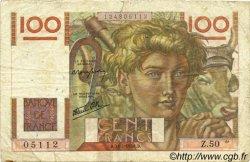 100 Francs JEUNE PAYSAN FRANCE  1946 F.28.05 B+
