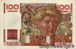100 Francs JEUNE PAYSAN FRANCE  1946 F.28.05 SUP