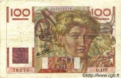 100 Francs JEUNE PAYSAN FRANCE  1946 F.28.10 pr.TTB