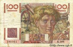 100 Francs JEUNE PAYSAN FRANCE  1946 F.28.12 TB+