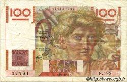100 Francs JEUNE PAYSAN FRANCE  1947 F.28.13