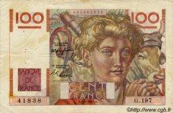 100 Francs JEUNE PAYSAN FRANCE  1947 F.28.14 TB+