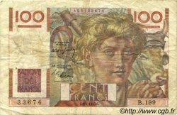 100 Francs JEUNE PAYSAN FRANCE  1947 F.28.14 TB