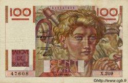 100 Francs JEUNE PAYSAN FRANCE  1947 F.28.15 TTB+ à SUP