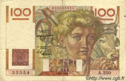 100 Francs JEUNE PAYSAN FRANCE  1948 F.28.18 TTB à SUP
