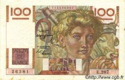 100 Francs JEUNE PAYSAN FRANCE  1949 F.28.21 TTB+