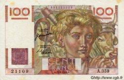 100 Francs JEUNE PAYSAN FRANCE  1950 F.28.26 TTB+