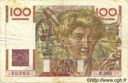 100 Francs JEUNE PAYSAN FRANCE  1950 F.28.27 TTB
