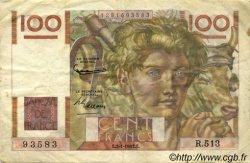 100 Francs JEUNE PAYSAN FRANCE  1953 F.28.35 TTB