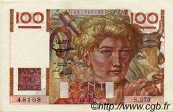 100 Francs JEUNE PAYSAN FRANCE  1953 F.28.40 TTB+ à SUP