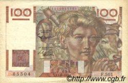 100 Francs JEUNE PAYSAN filigrane inversé FRANCE  1952 F.28bis.01 pr.TTB