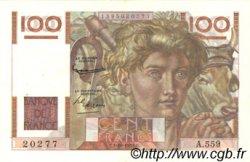 100 Francs JEUNE PAYSAN filigrane inversé FRANCE  1954 F.28bis.05 TTB